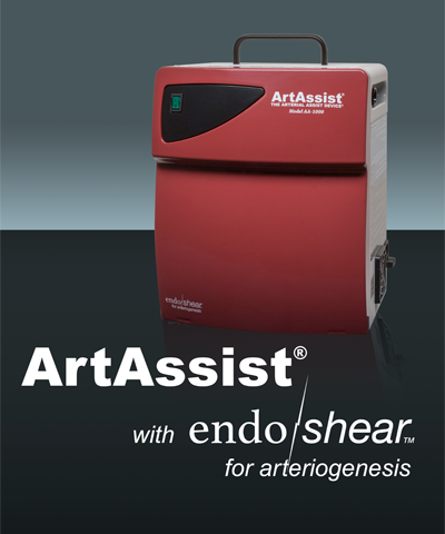 The ArtAssist portable pneumatic compression device with logo