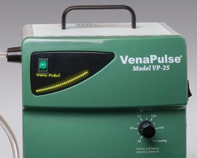 Venapulse augmentation device display panel and pressure adjustment dial