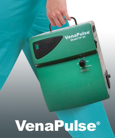 Nurse carrying VenaPulse Device with logo
